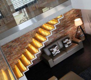 Escaliers droit en béton plâtre notre réalisation - EscalierDesign Genève Suisse
