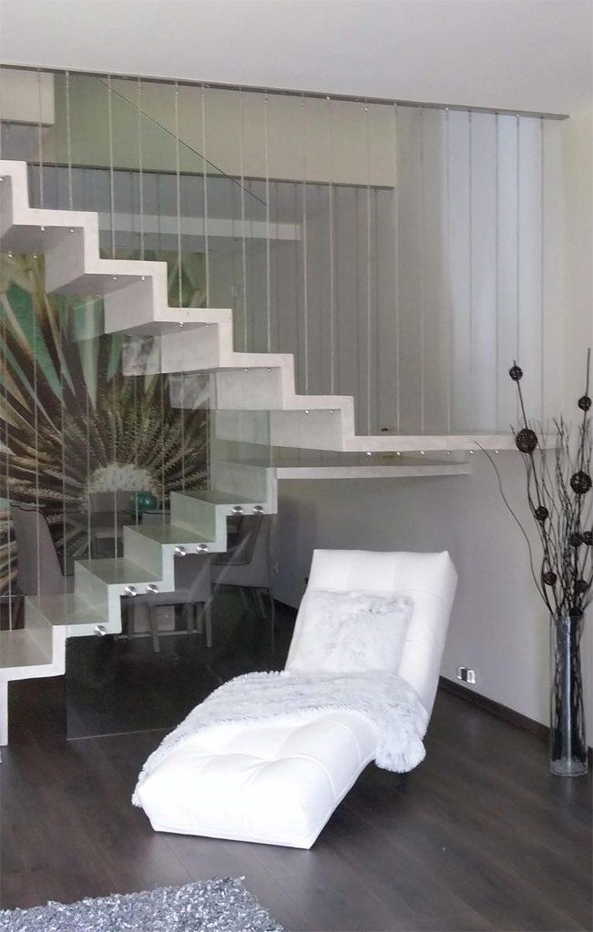 Escaliers en U à deux volées avec palier de repos notre réalisation - EscalierDesign Genève Suisse