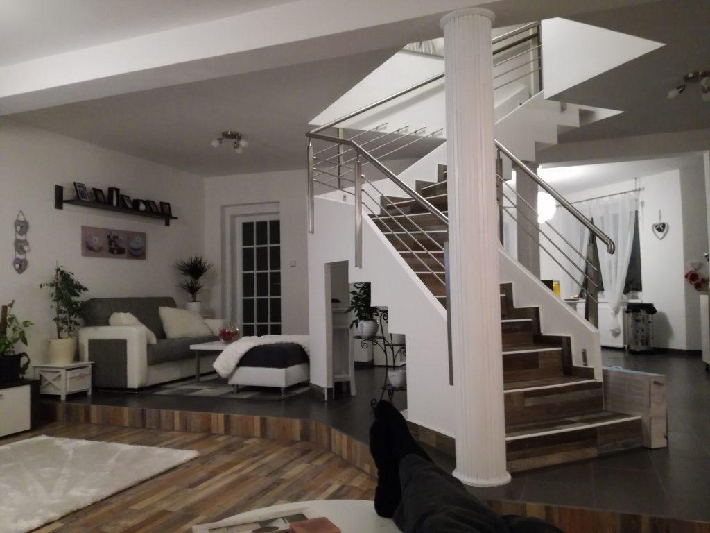 Escalier classique en feuille de béton