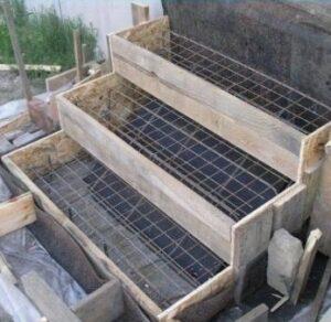 Construction escalier en béton armé