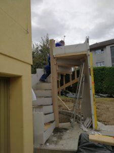 Construction d'escalier à Bottens, Canton Vaud.