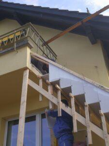 Escalier classique réalisé en béton-plâtre