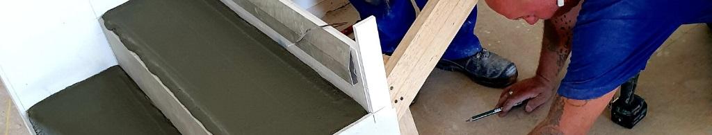 Construction d'escaliers en feuille de béton